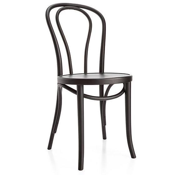 Bentwood Vienna Matte Black Parisian Dining Chair