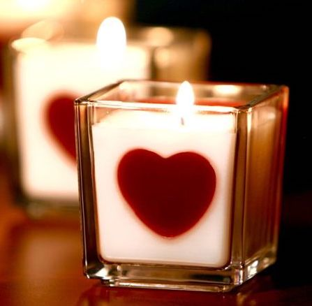 DIY Embedded Heart Candles via candletech