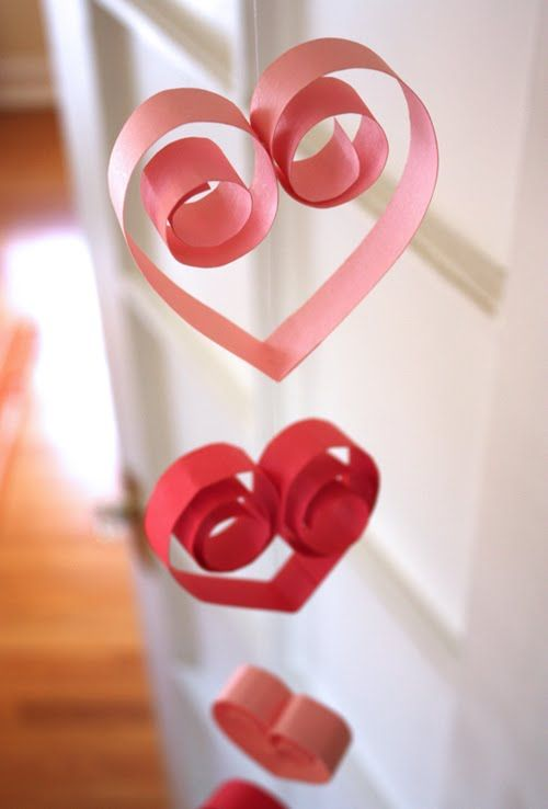 DIY Paper Heart Garland via howaboutorange