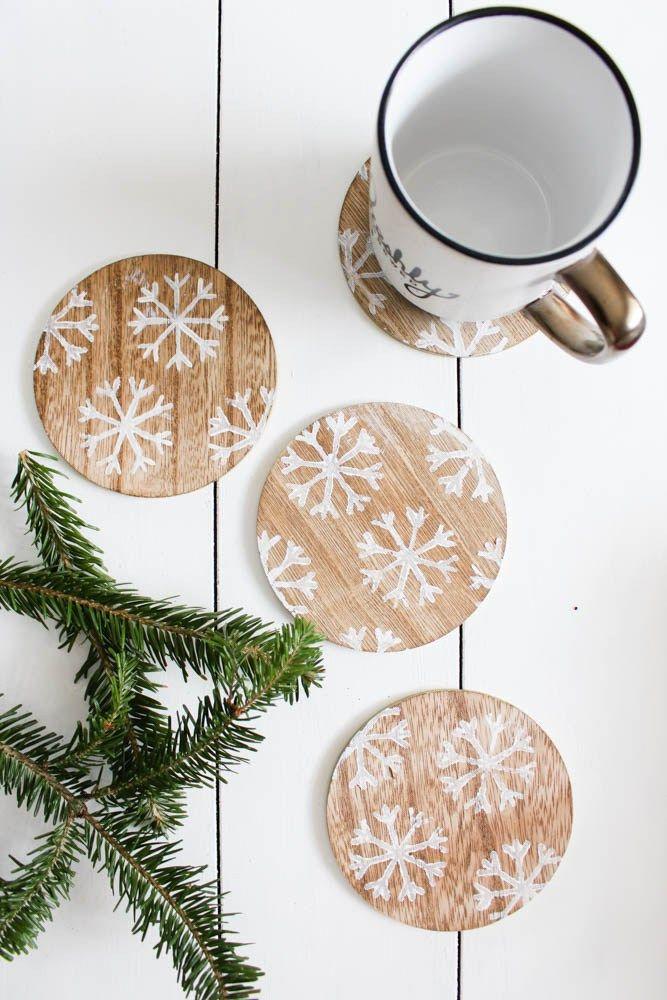 DIY Winter Snowflake Coasters via withinthegrove