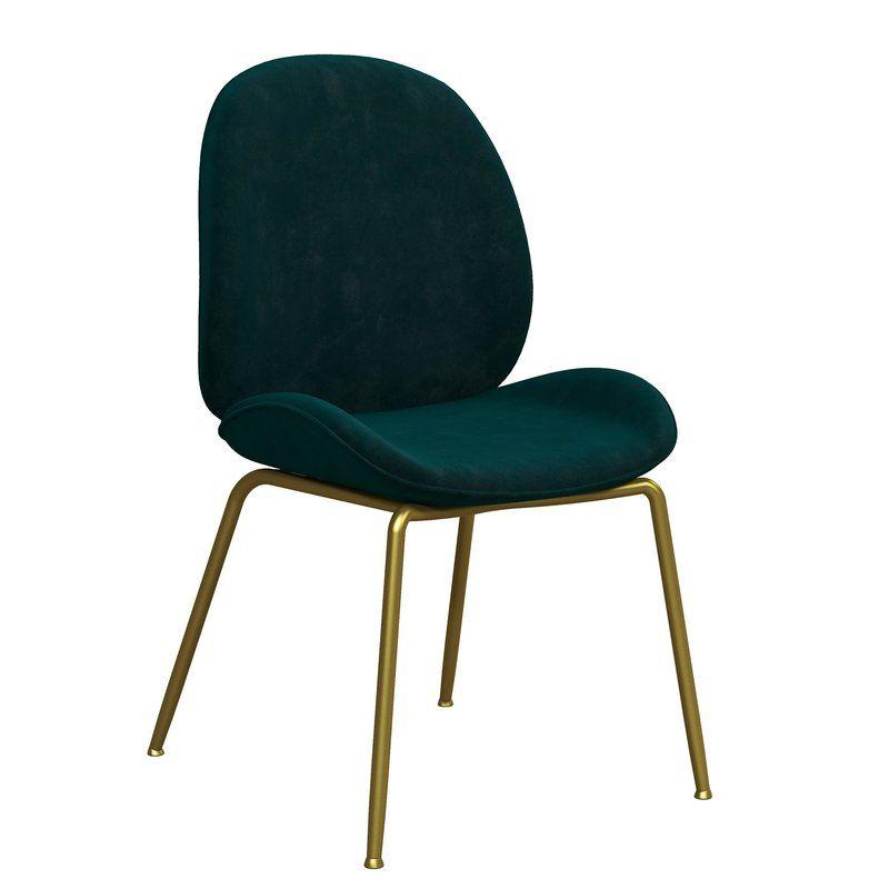 Dark Green Velvet Dining Chair