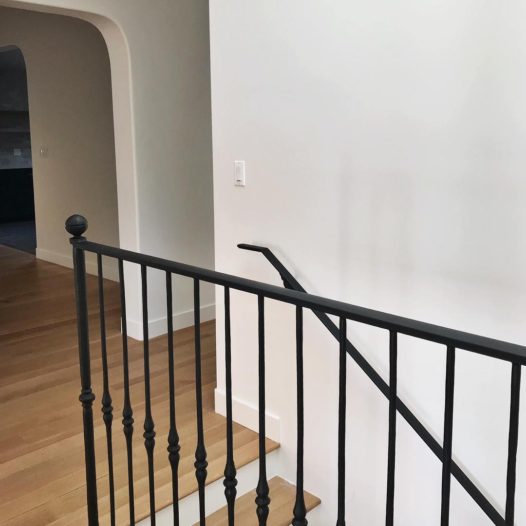 Farmhouse style Wrought iron staircase via @taylorandtaylor__