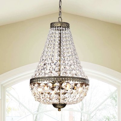 Gartner Symmetric 6-Light Crystal Chandelier $191