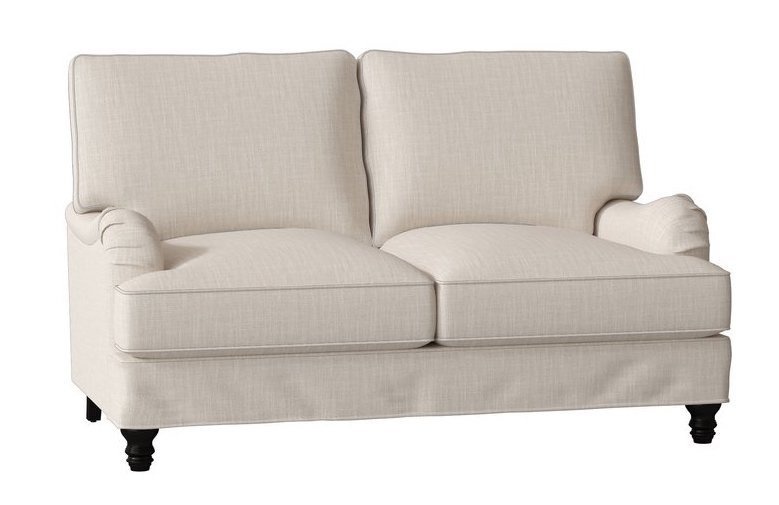 Ivory Slipcovered Loveseat - Montgomery