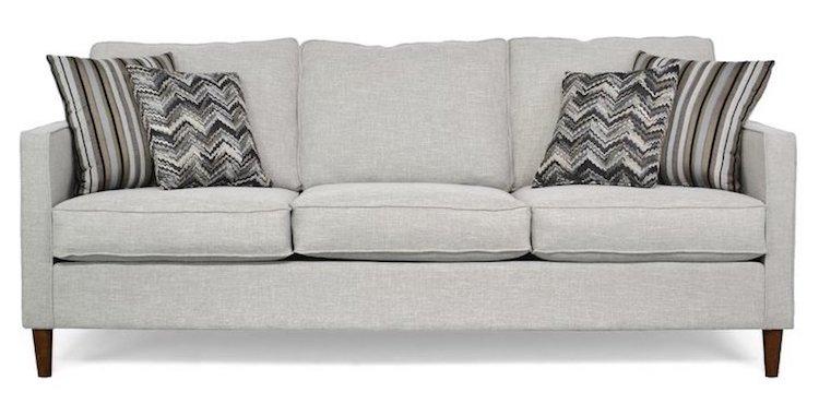 Modern Light Gray Minimal Sofa