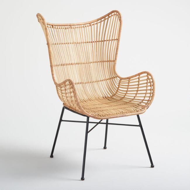 Natural Rattan Willis Wingback Chair WM