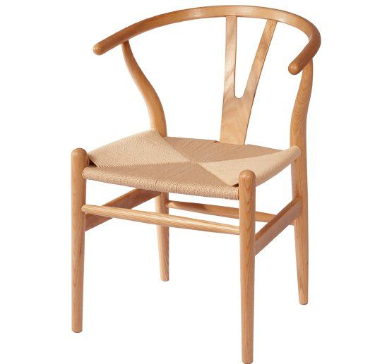 Nautral Wood Scandinavian Wishbone Dining Chair