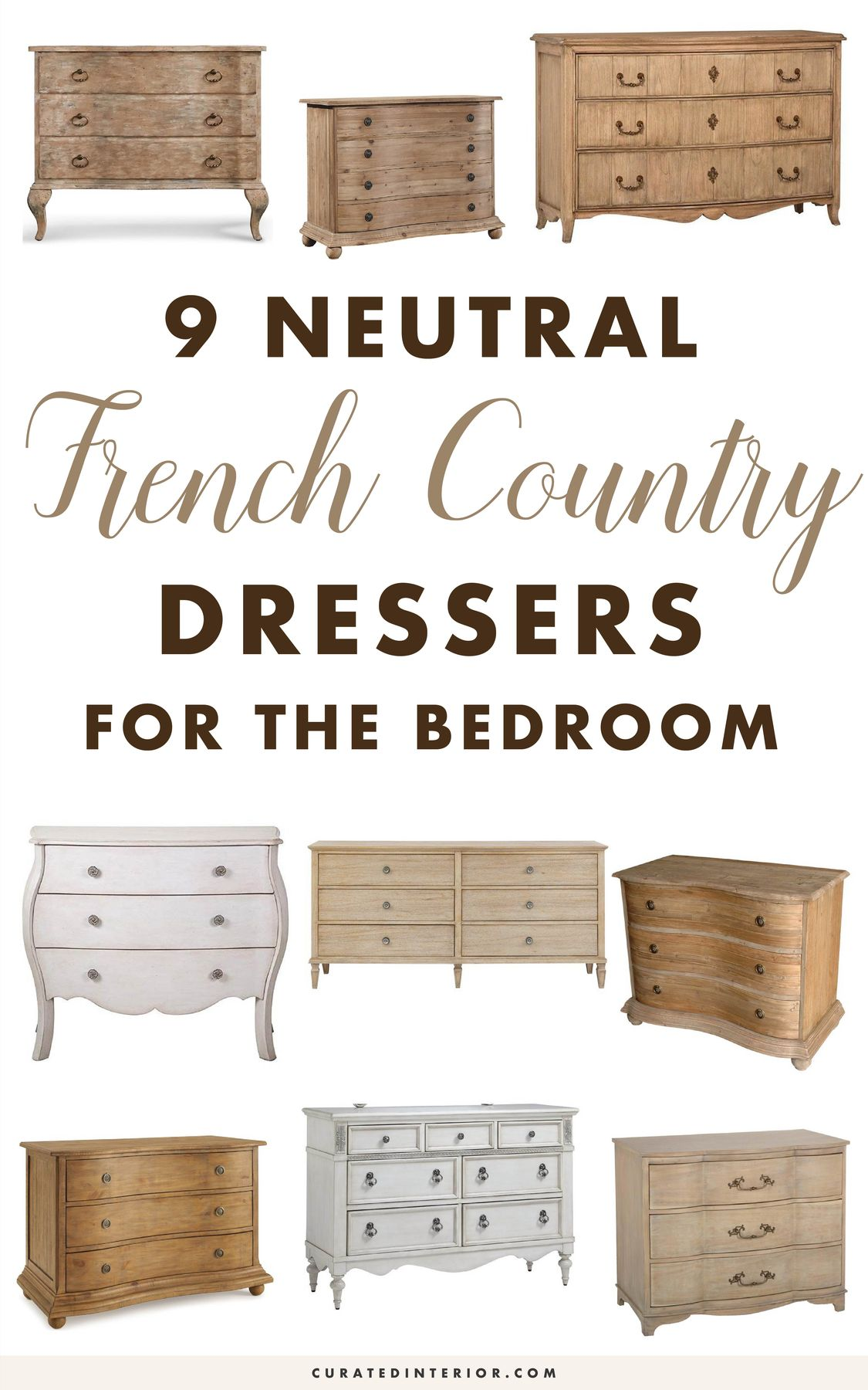Neutral French Country Dressers