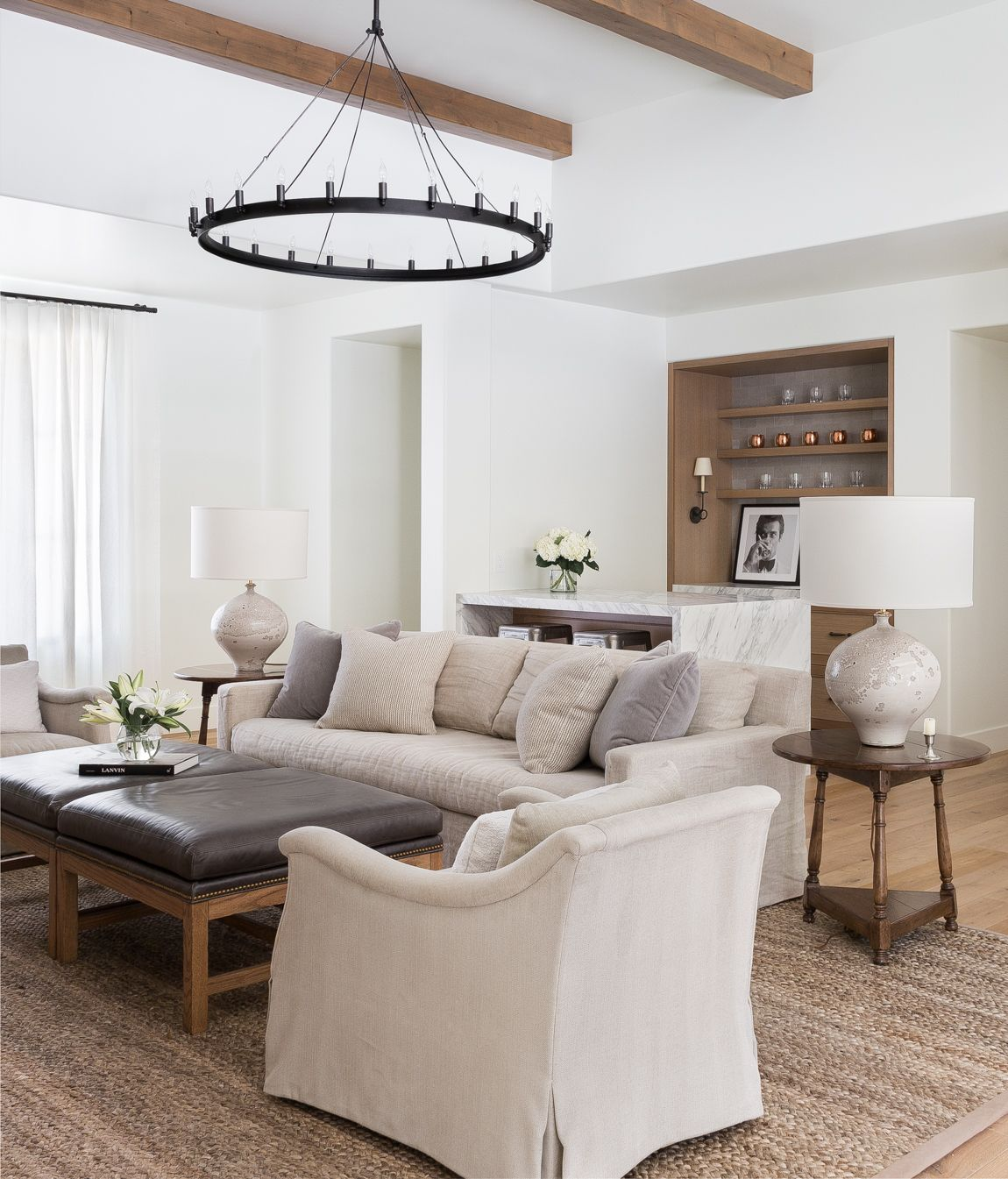 Neutral Living Room Design by Marianne Simon