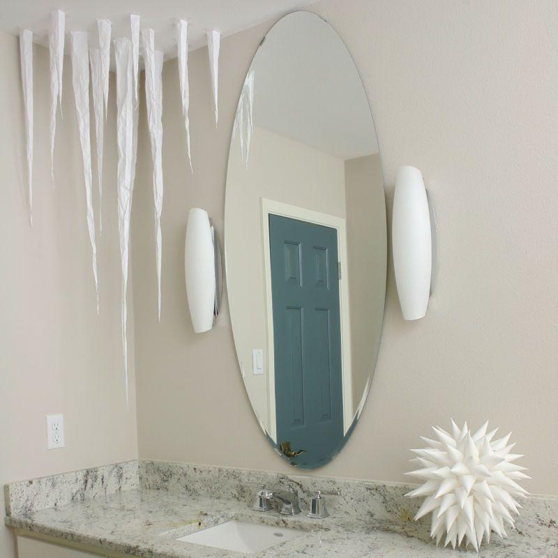 Paper Icicles Frozen Ceiling DIY Winter Decor via instructables