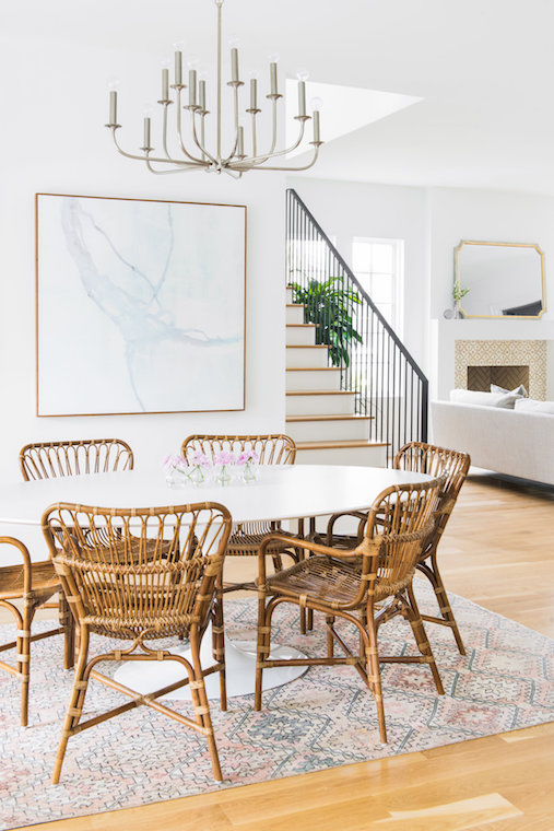 19 Best Rattan Chairs For Every Space, White Rattan Dining Room Chairs