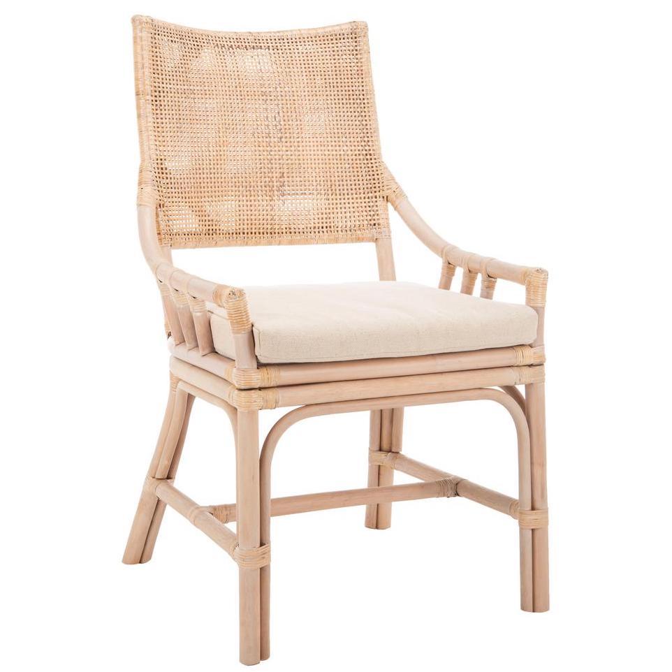 Rattan Donatella Natural White Wash Cotton Chair