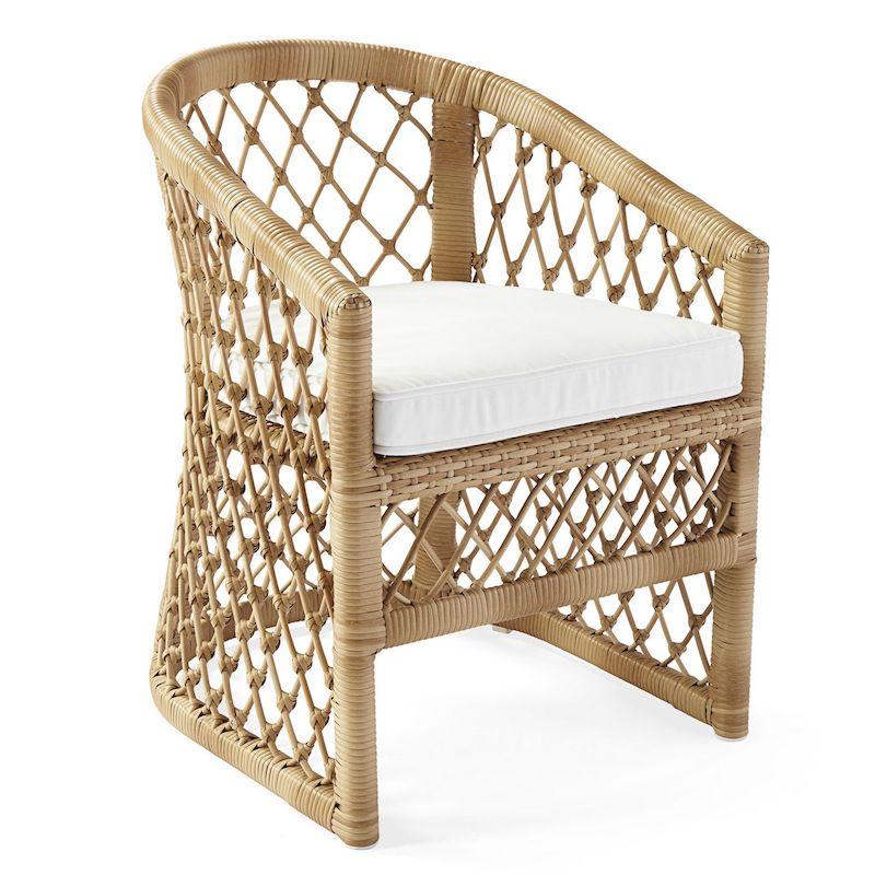 Rattan Weaved Capistrano Outdoor Dining Chair - Dune