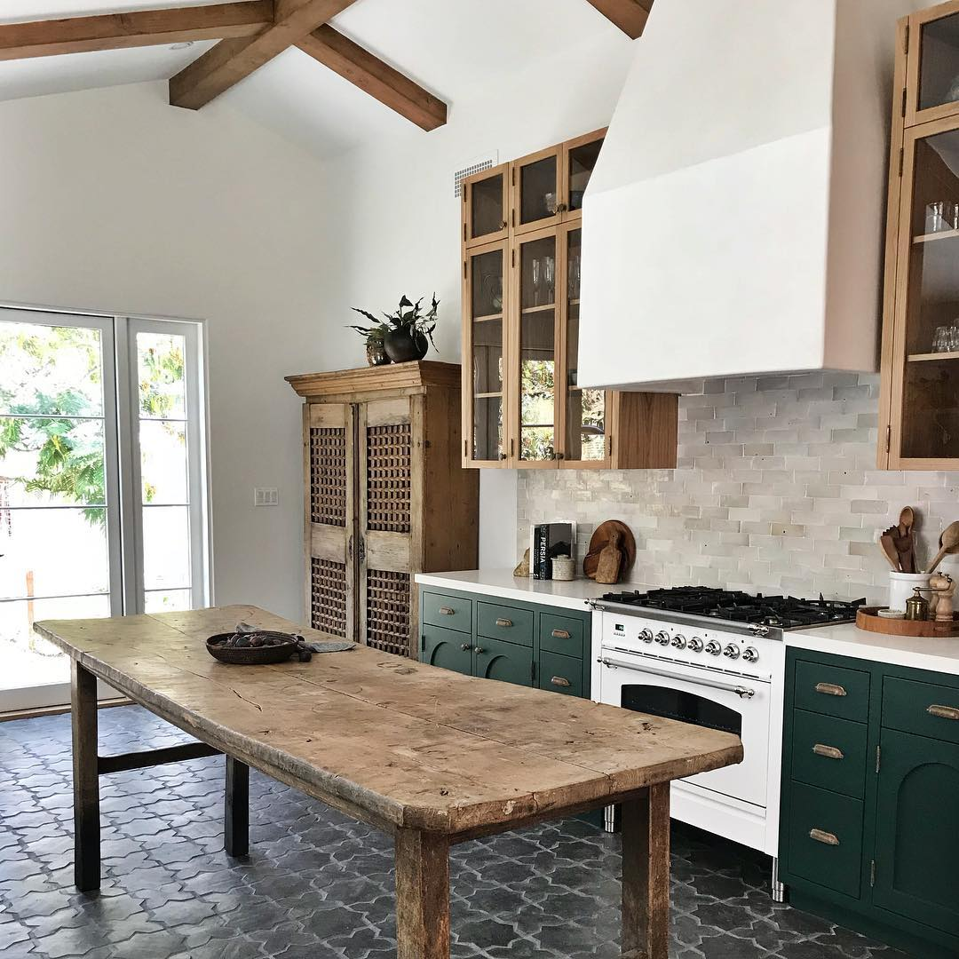 Reclaimed wood kitchen island Farmhouse Decor