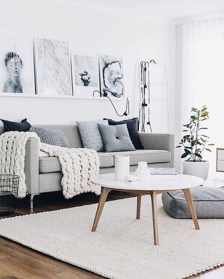Scandinavian Style Light Gray Sofa