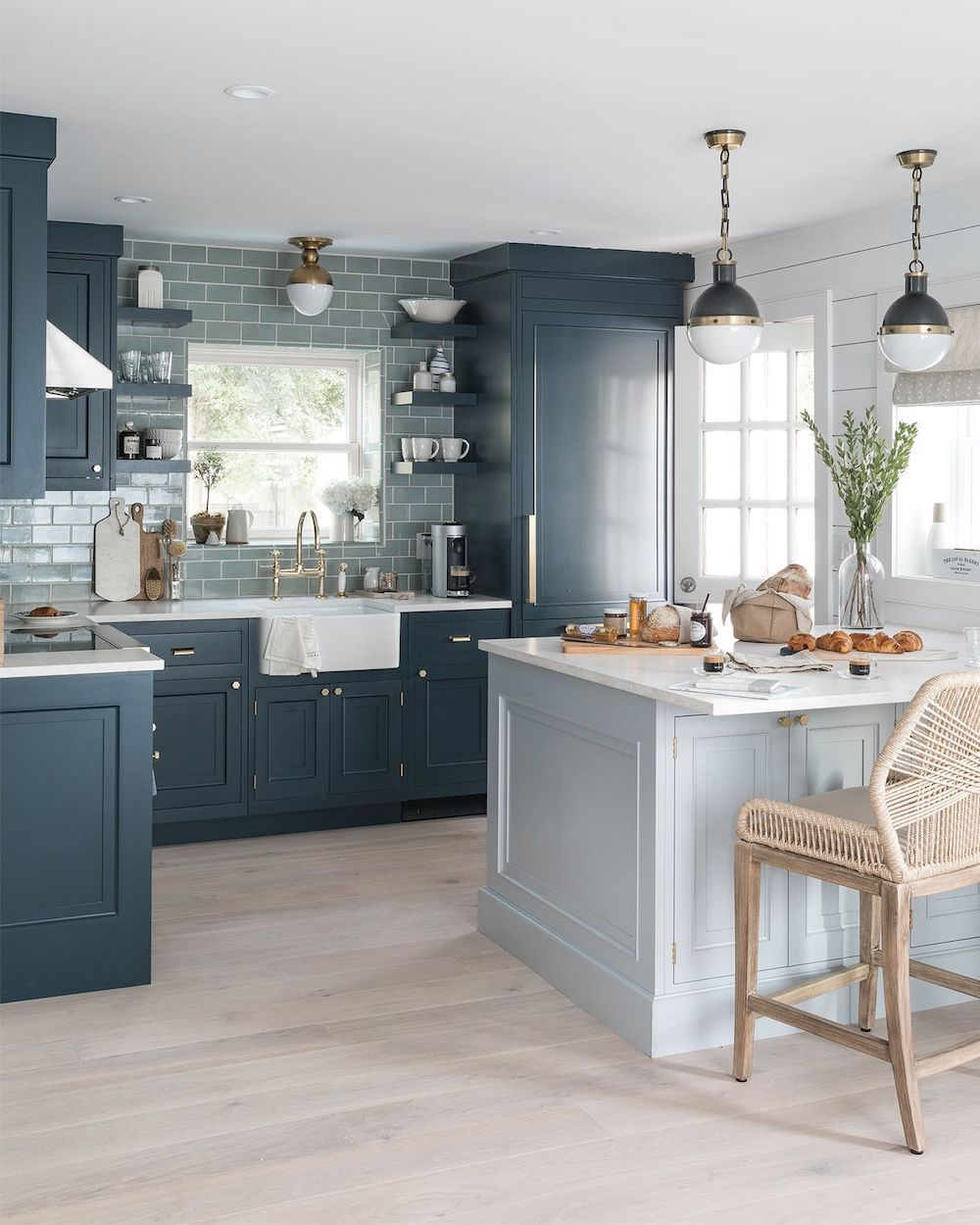 Shades of Blue coastal kitchen decor