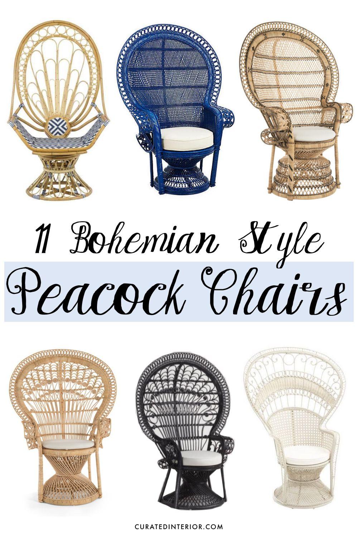 11 Bohemian Style Peacock Chairs