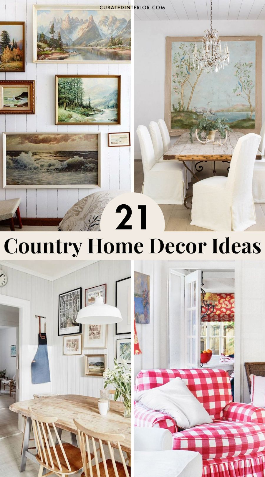 21 Country Home Decor Ideas
