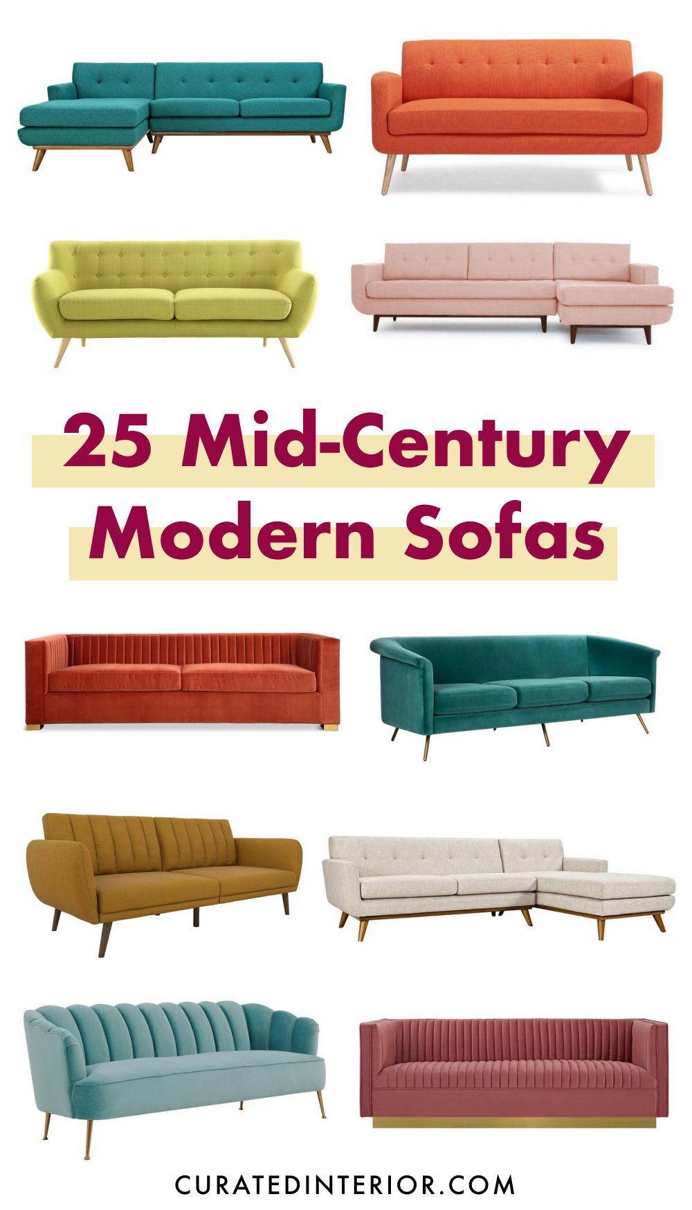 25 Mid-century Modern Sofas