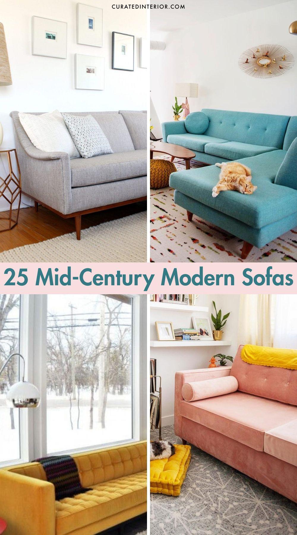 25 Mid-century Sofas