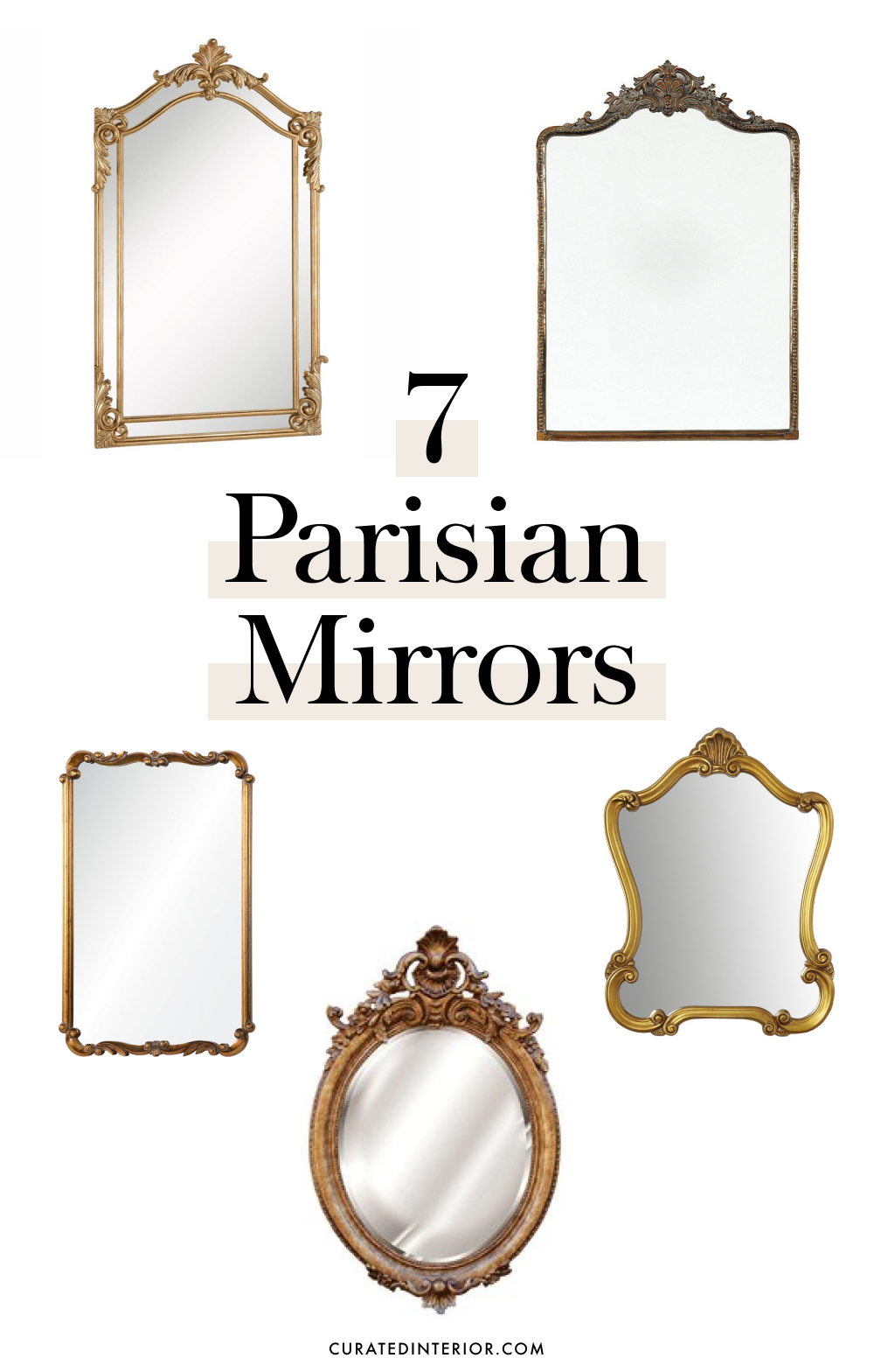 7 Parisian Mirrors to give your home a chic French charm
