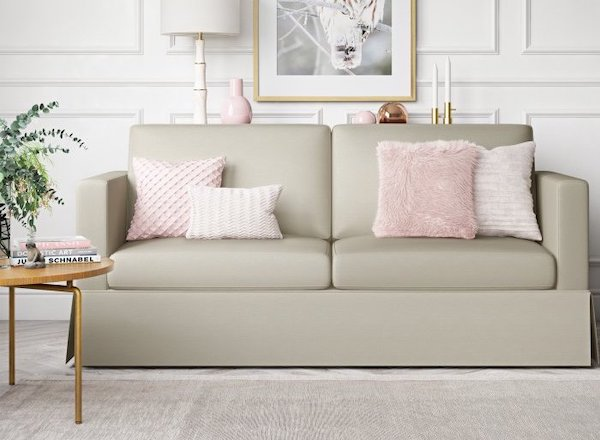 BHG Russel Skirted Farmhouse Sofa