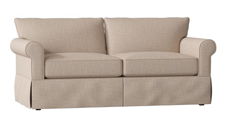 Beige Linen Farmhouse Sleeper Sofa