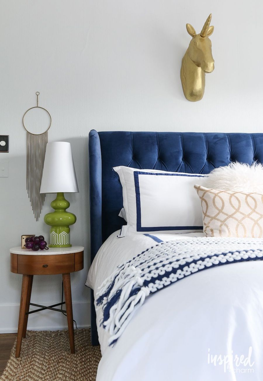 11 Perfectly Blue Tufted Headboards