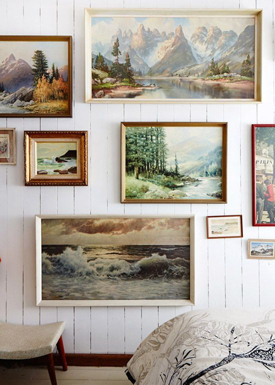 Country art gallery wall