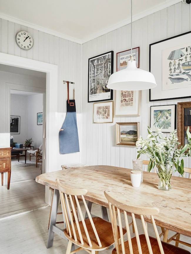 Country dining room via My Scandinavian Home