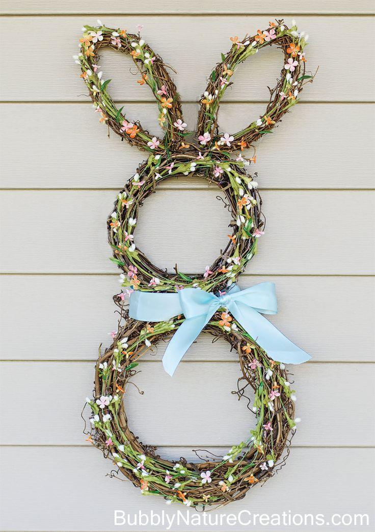 DIY Bunny Wreath via sprinklesomefun