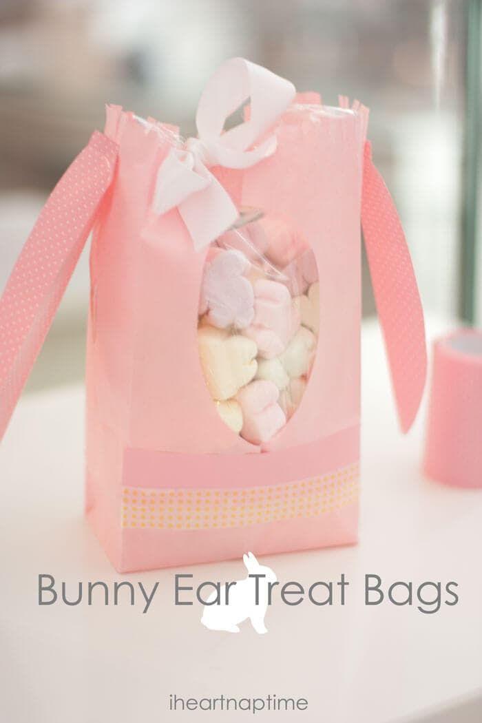 Easter Bunny Ear Craft Bags via iheartnaptime