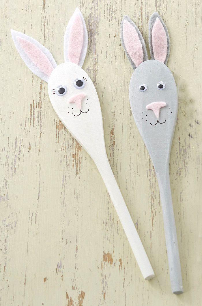 Easter bunny Spoon Craft DIY via hobbycraft