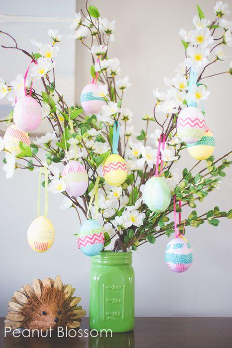 Easter egg tree via Peanut Blossom