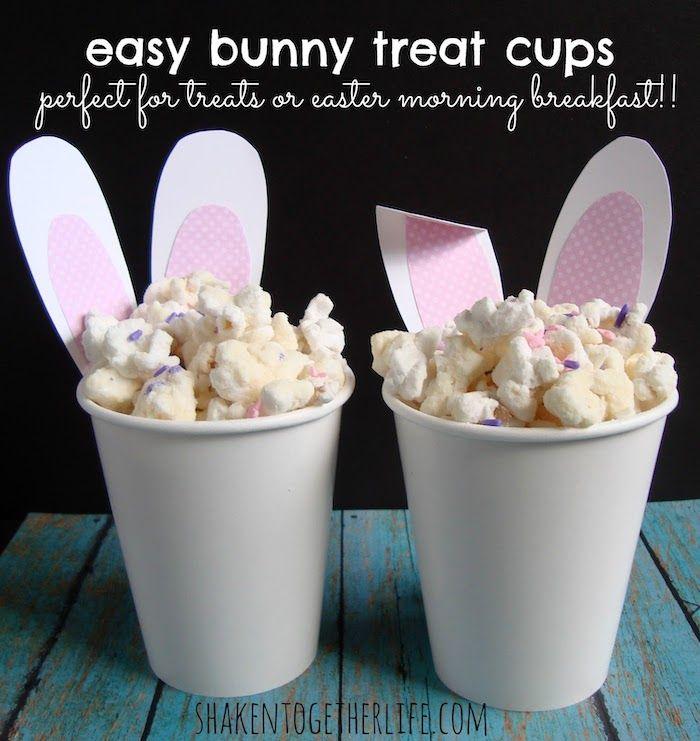 Easy Bunny Ear Cup Decor via shakentogetherlife