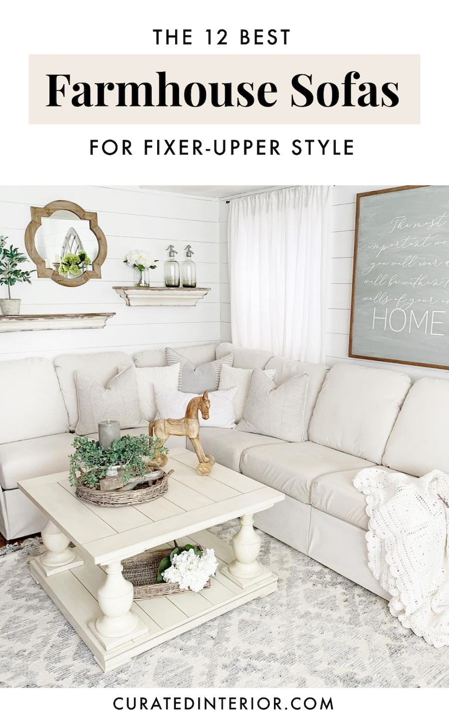 Farmhouse Sofas for Fixer-Upper Style