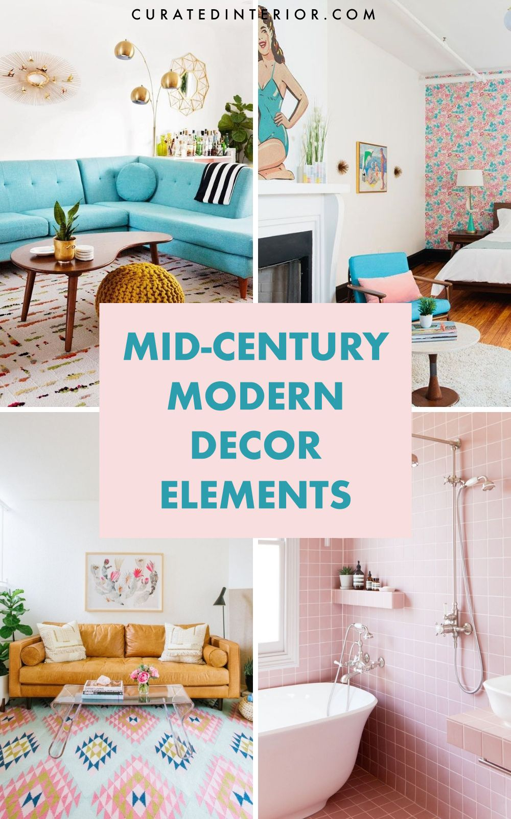 Mid-century modern decor elements