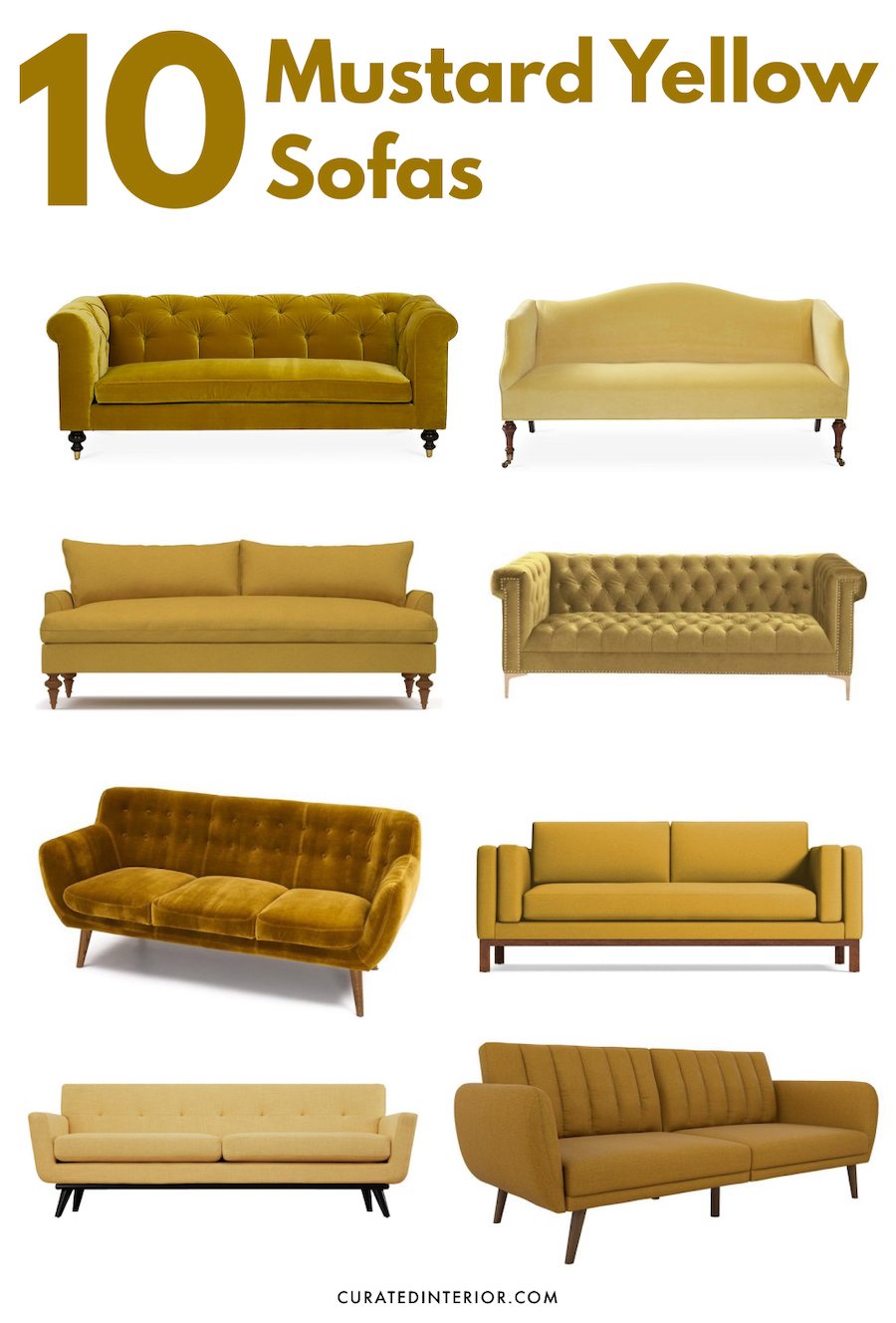 10 Mustard Yellow Sofas for a Mid-Century Modern Vibe