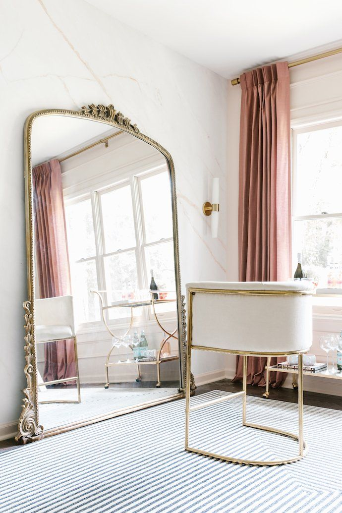 Oversized French mirror via The Glitter Guide