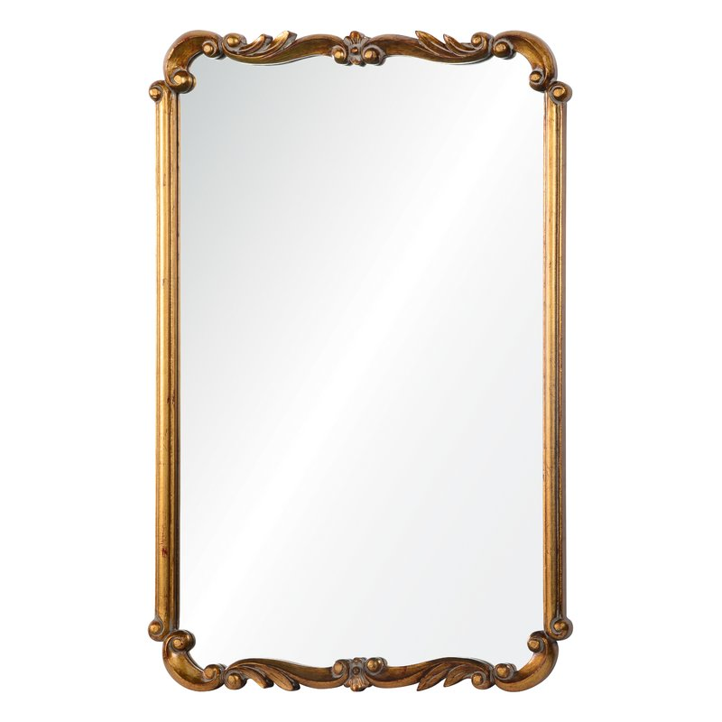 Parisian Mirrors - Rectangle Gold Wall Mirror
