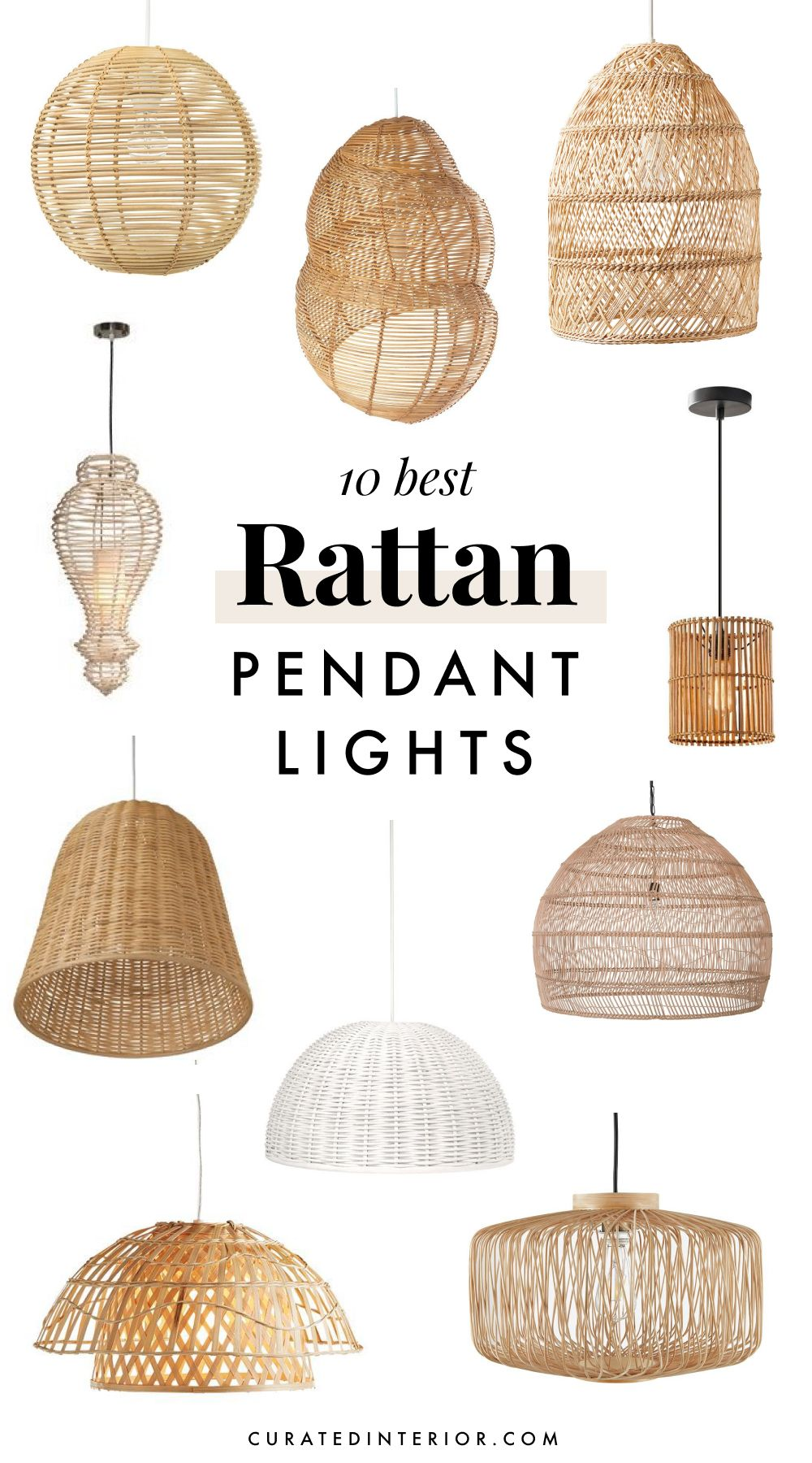 10 Best Rattan Pendant Lights for Your Beach Home or Coastal Kitchen
