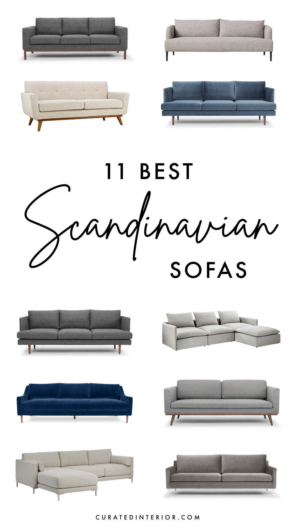 11 Best Scandinavian Sofas