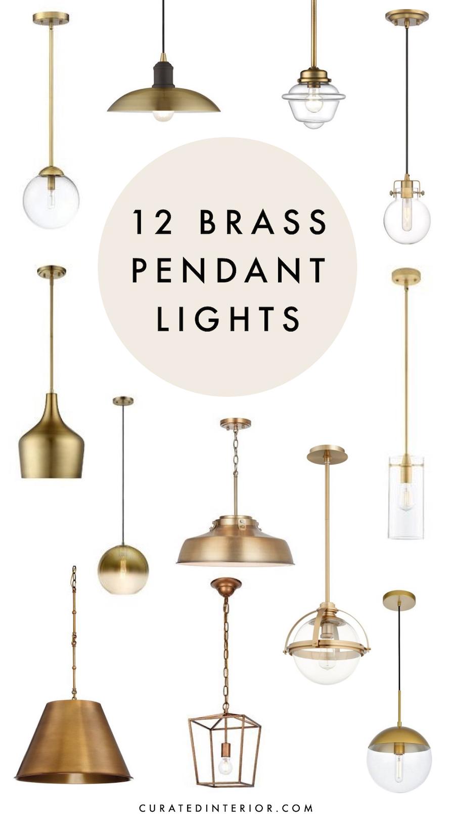 12 Brass Pendant Lights