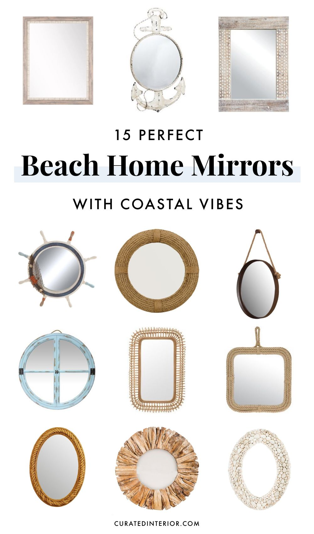 15 Beach Home Mirrors with Coastal Vibes