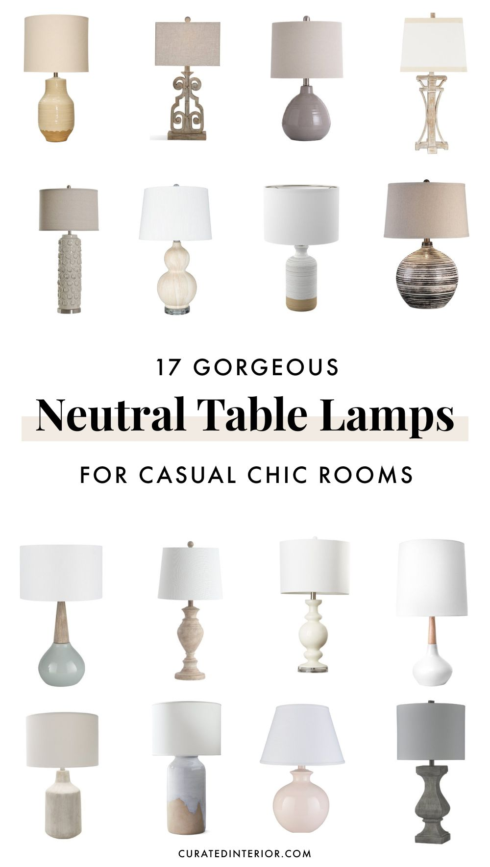 17 Neutral Table Lamps