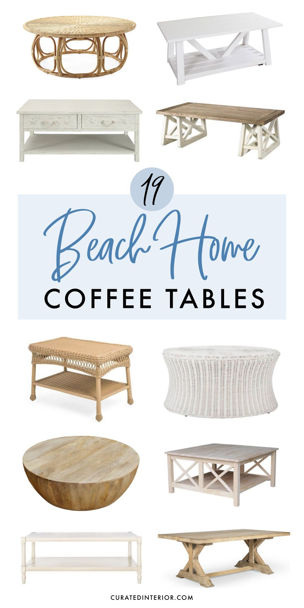 - 19 Coastal Coffee Tables For Your Beach Home