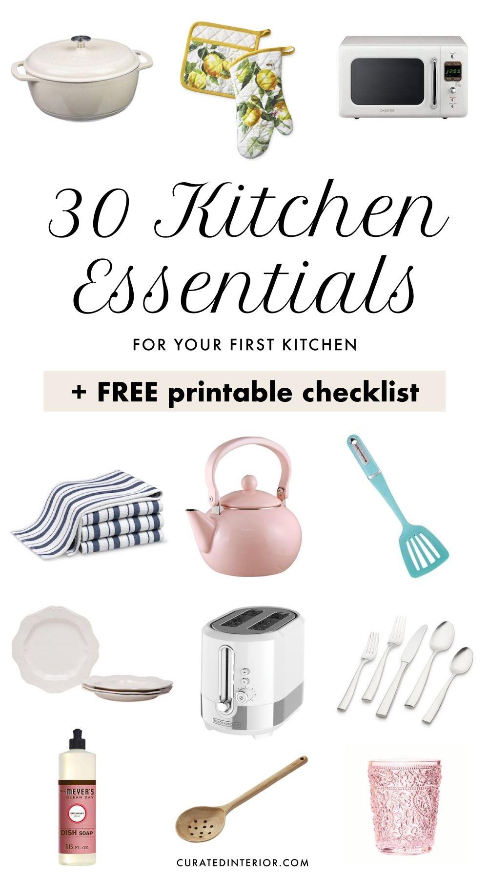 30 Kitchen Essentials