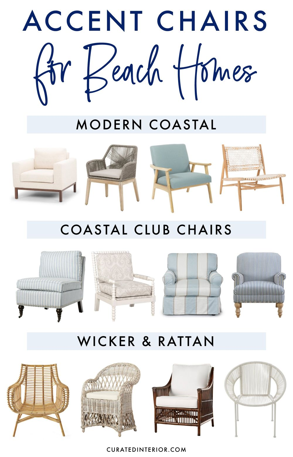 17 Accent Chairs for Beach Homes