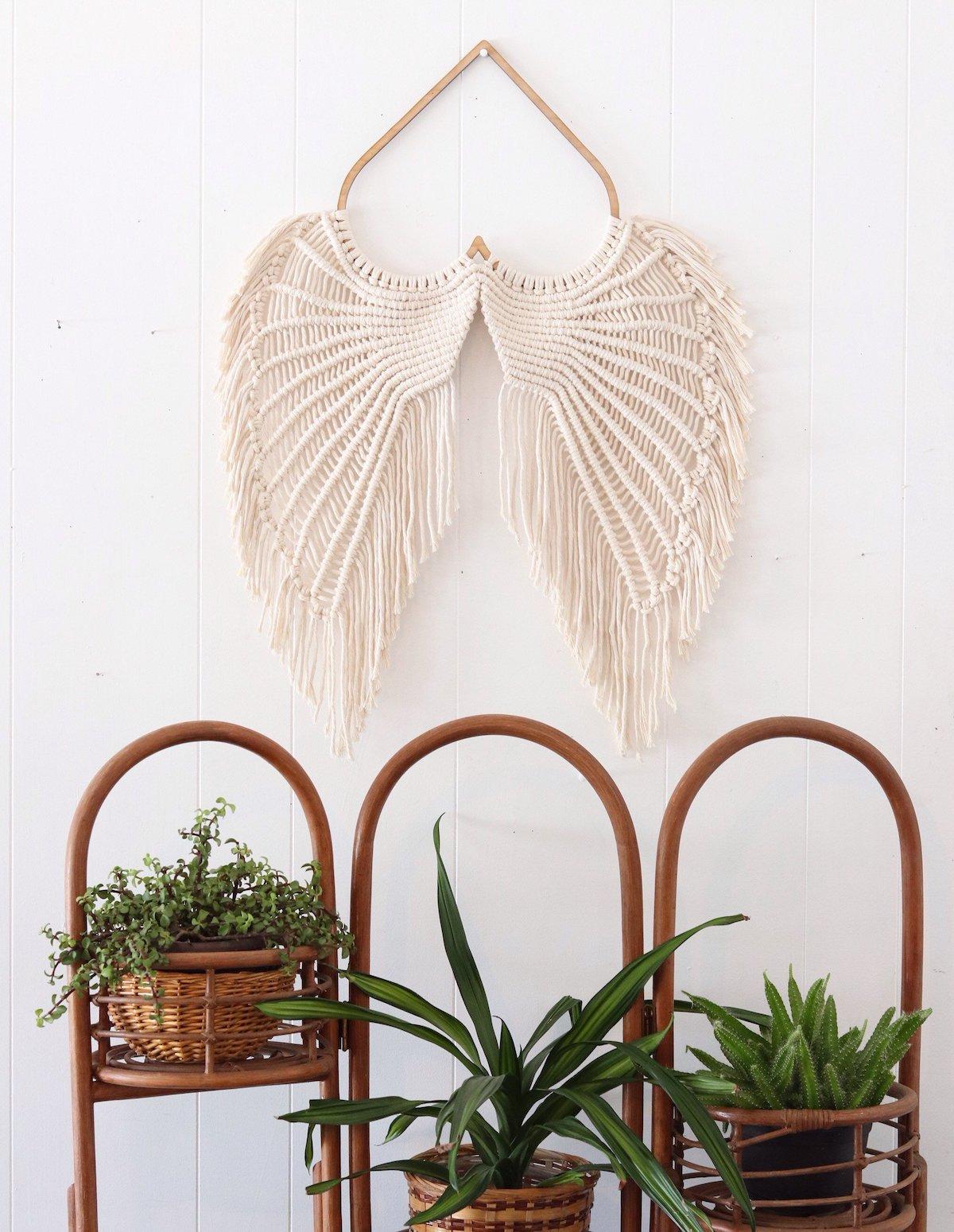 Angel Wings Macrame - Macrame Wallhanging