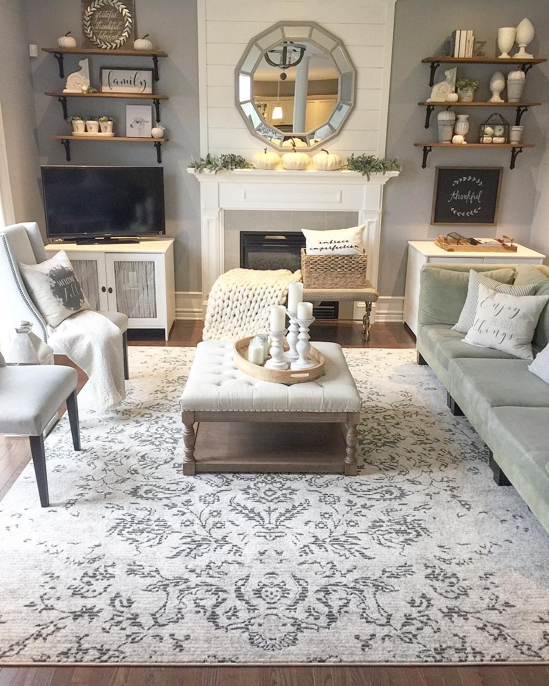 Area rug via @willowbloomhome
